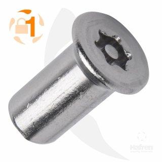 Hülsenmutter Senkkopf A2  / M10 x  25 // 100 Stück