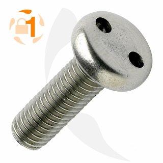 Metrische Schraube Zweiloch Linsenkopf A2  / M 4 x  12 // 10 Stück