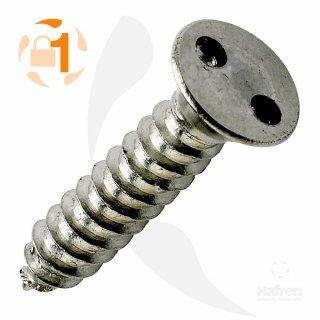 Blechschraube Zweiloch LSK A2  / 3,5 x  38 // 10 Stück