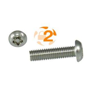 5-Stern Schraube RK A2  / M 6 x  25 // 100 Stück
