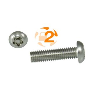 5-Stern Schraube RK A2  / M 8 x  50 // 100 Stück
