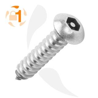 Blechschraube Pin Hexagon FRK A2  / 6,3 x  25 // 100 Stück