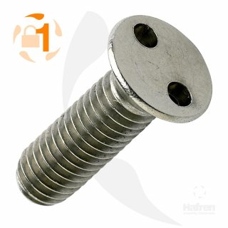 Metrische Zweiloch Senkkopf A2  / M 4 x  20 // 10 Stück