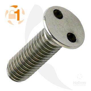 Metrische Zweiloch Senkkopf A2  / M 6 x  20 // 10 Stück