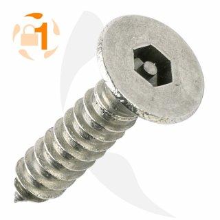 Blechschraube Pin Hexagon SK A2  / 3,5 x  16 // 10 Stück