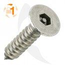 Blechschraube Pin Hexagon SK A2  / 3,5 x  25 // 10...